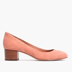 Madewell Pink Suede Ella Pumps
